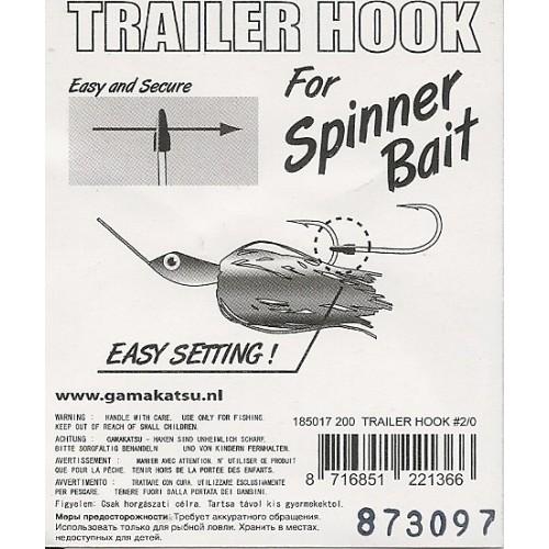 Anzois Gamakatsu Trailer Hook Spiner Bait