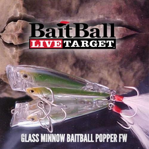 Amostra Livetarget glass Baitball Popper FW 65