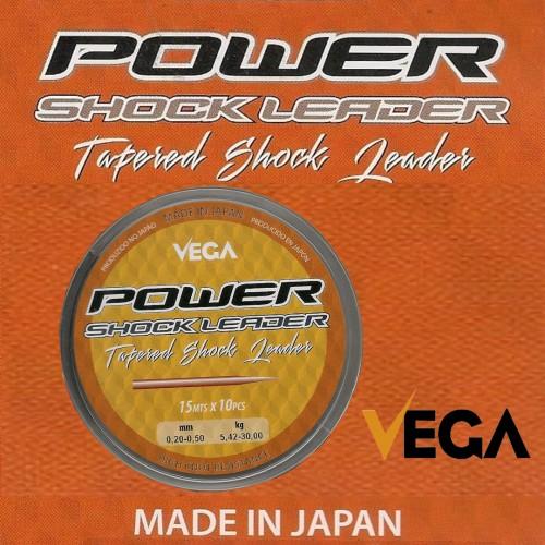 Linha Vega Power Shock Leader 0.20-0.50 10x15m