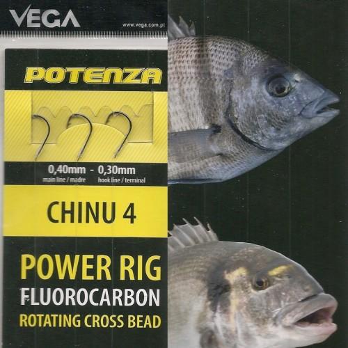 Vega Montagem para barco Power Rig Fluorocarbono