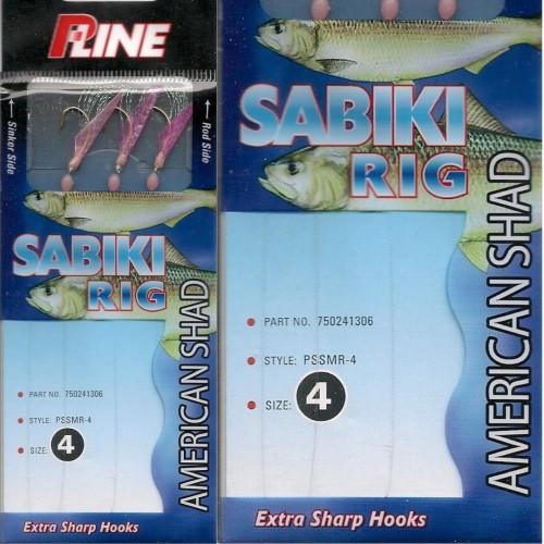 P-Line Sabiki American Shad Aparelho Carapau