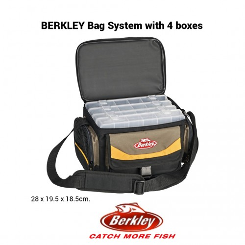 Berkley Bag System with 4 boxes