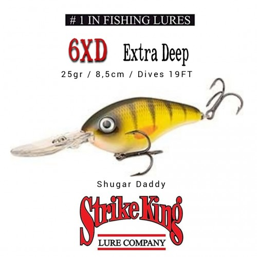 Amostra Strike King 6DX Extra Deep