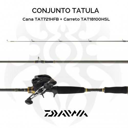 Conjunto Baitcasting Daiwa Tatula Casting 155