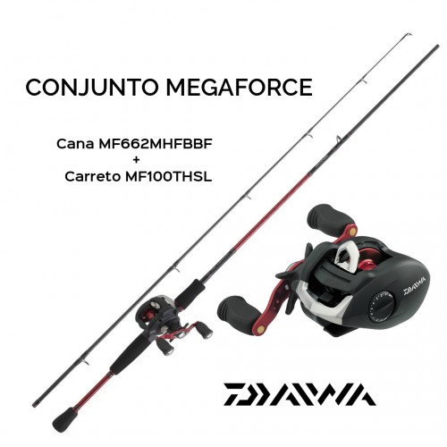Conjunto Baitcasting Daiwa Megaforce 10