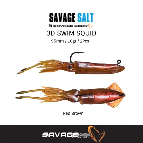 Amostra Savage Gear Swim Squid 95