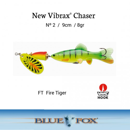 Amostra Blue Fox Vibrax Chaser 2
