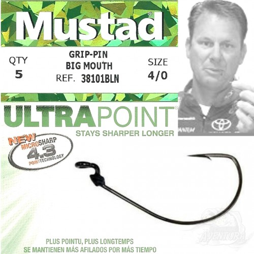 Anzol Mustad Grip-Pin Big Mouth