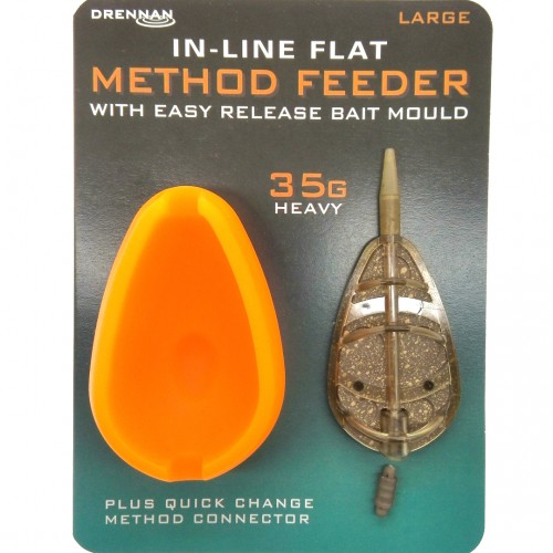 Drennan In-Line Flat Method Feeder With Mould