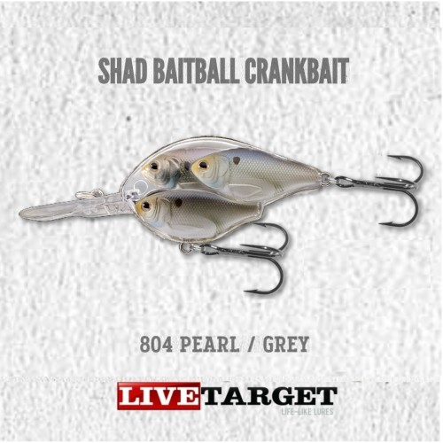 Amostra LiveTarget Shad BaitBall CrankBait