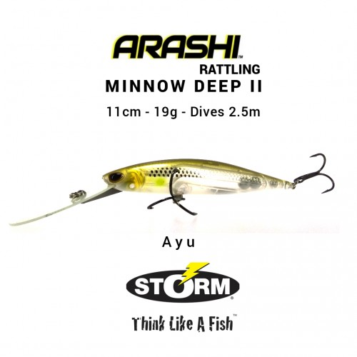 Amostra Storm Arashi Rattling Minnow Deep 11