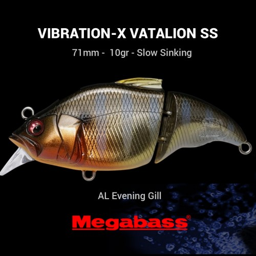 Amostra Megabass Vibration - X Vatalion (SS) 71MEGVI
