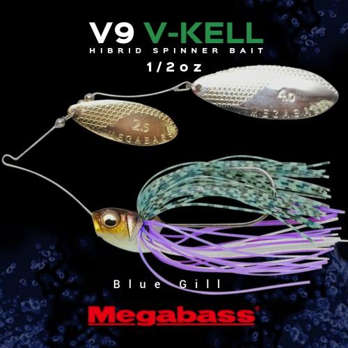 Spinerbait Megabass V9 V-Keel 1/2oz