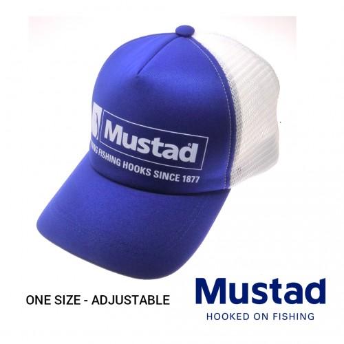 Chapeu Mustad Blue/White/Net