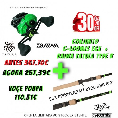 Conjunto G-Loomis E6X + Daiwa Tatula Type R