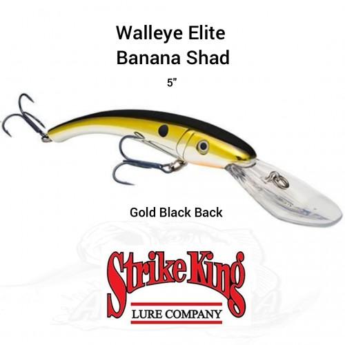 Amostra Strike King Walleye Elite Banana Shad