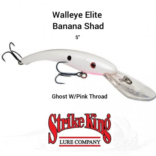 Amostra Strike King Walleye Elite Banana Shad