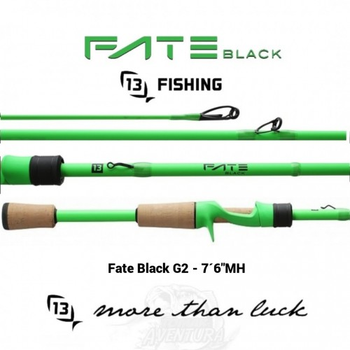 "Cana Baitcasting 13 Fishing Fate Black G2 - 7´16""MH"