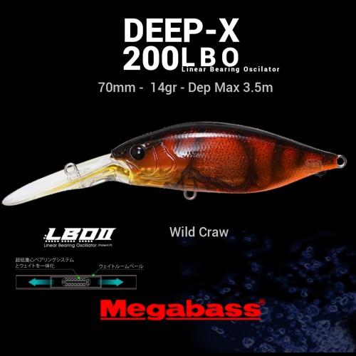 Amostra Megabass Deep-X 200LBO