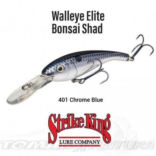 Amostra Strike King Walleye Elite Bonsai Shad