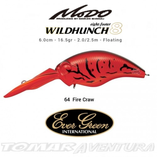 Amostra Cranckbait Ever Green Wild Hunch 8 Eight Footer