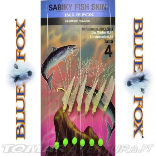 Aparelho de Carapau Blue Fox Sabiki Fish Skin