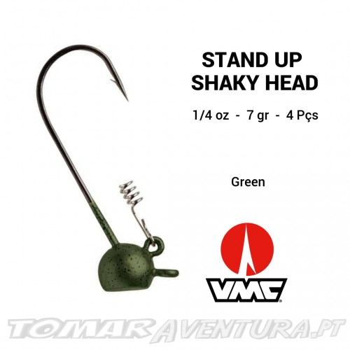 VMC Stand Up Shaky Head 1/4 Oz Green