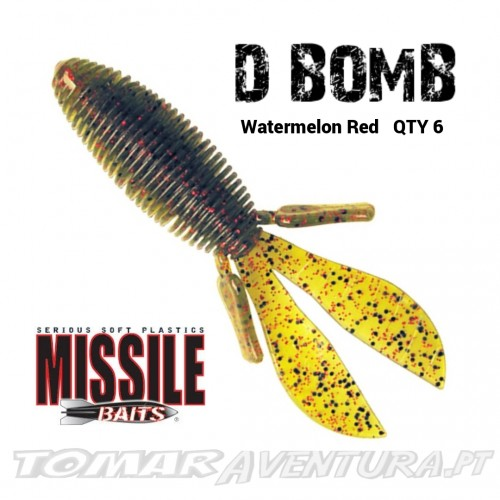 "Amostra Missile Baits D Bomb 4"""