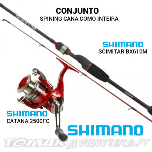 Conjunto Shimano Spining Scimitar/Catana