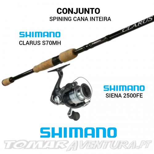 Conjunto Spining Shimano Clarus/Siena