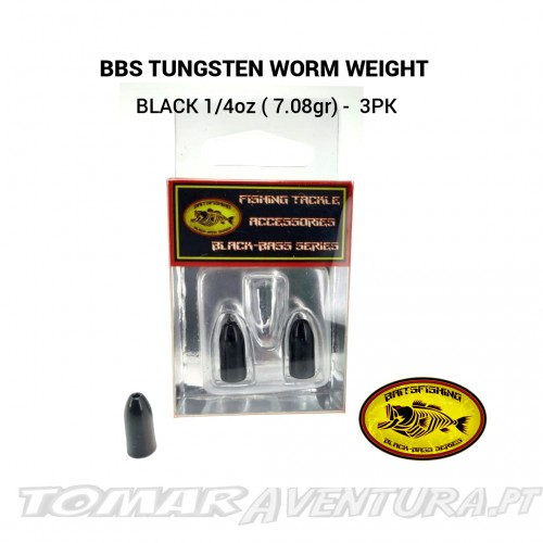 BBS Tungsten Worm Weight Black