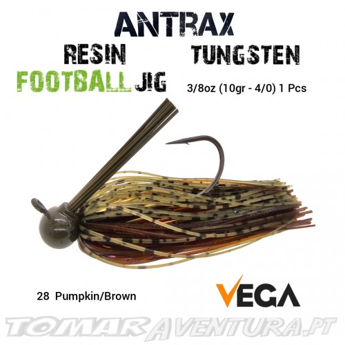 Vega Resin Football Jig Tungsten 3/8oz