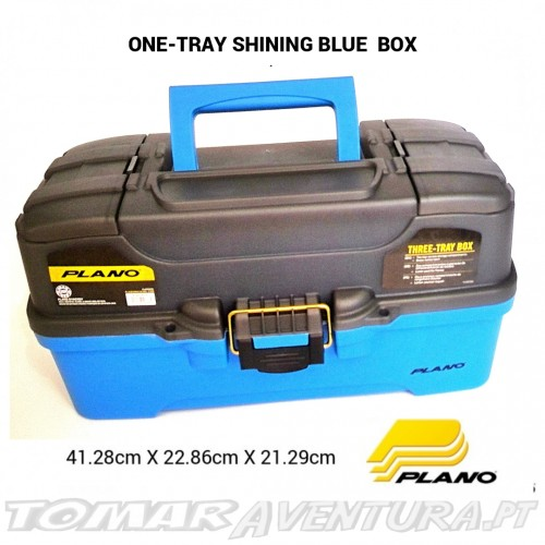 Caixa Plano Three Tray Shining Blue Tackle Box
