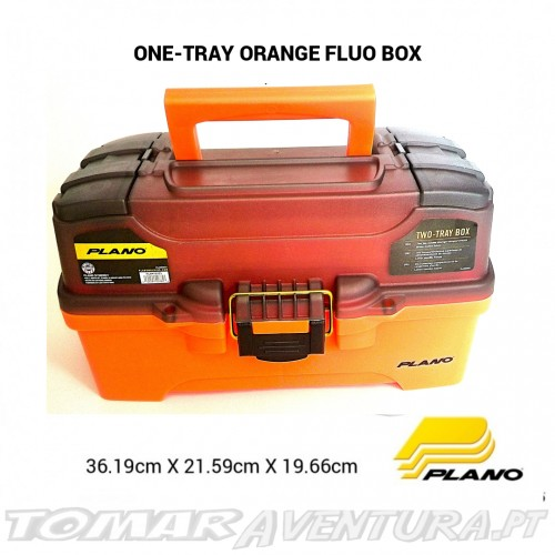 Caixa Plano Two Tray Orange Fluo Tackle Box