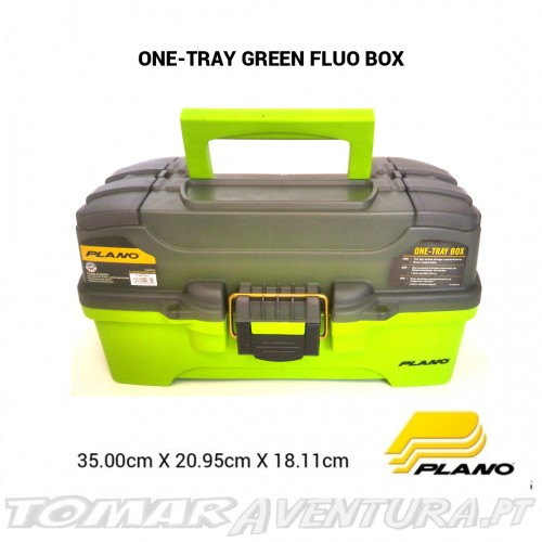 Caixa Plano One Tray Green Fluo Tackle Box
