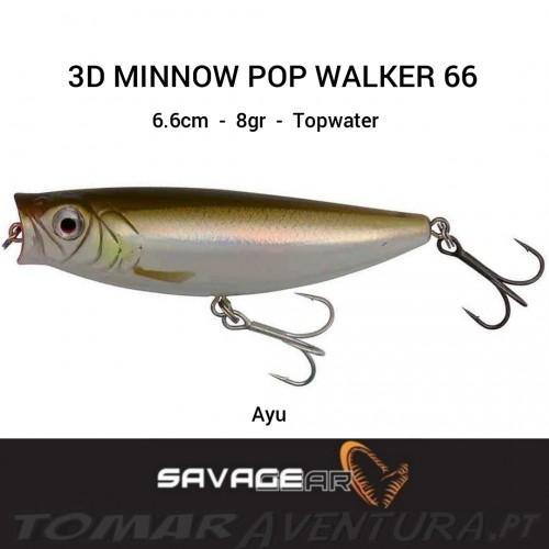 SAVAGE GEAR 3D MINNOW POP WALKER 66