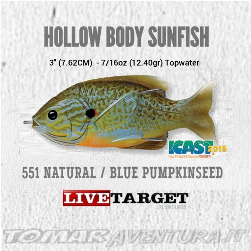 LiveTarget Hollow Body Sunfish 3""