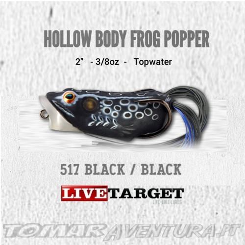 LiveTarget Hollow Body Frog Popper