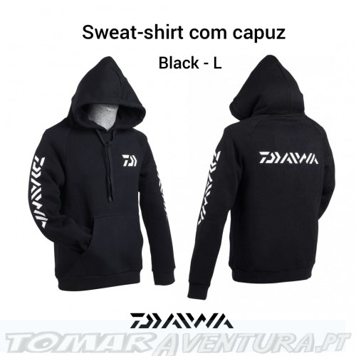 Daiwa Sweat-shirt com capuz Black