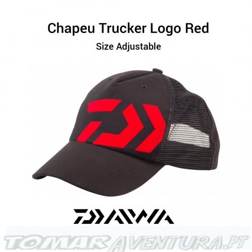 Chapeu Daiwa Trucker Black Logo Red