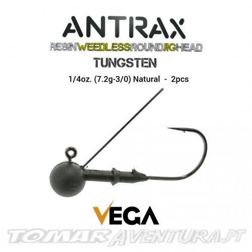 Vega Antrax Resin Weedless Round Jig Head