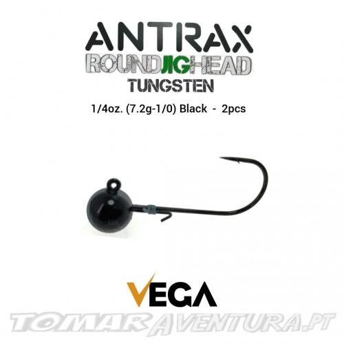 Vega Antrax Round Jig Head Tungsten