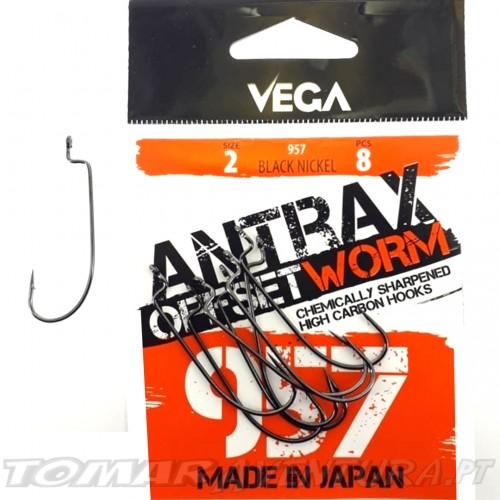 Anzois Vega Antrax Offset Worm 957