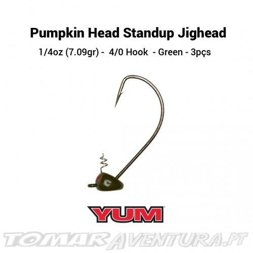 Yum Pumpkin Head Standup Jighead - Green