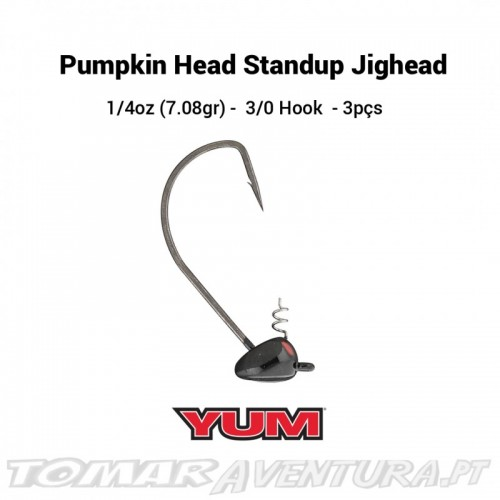 Yum Pumpkin Head Standup Jighead 3/8oz Black