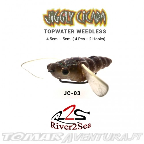 River2sea Jiggly Cicada Topwater Weedless