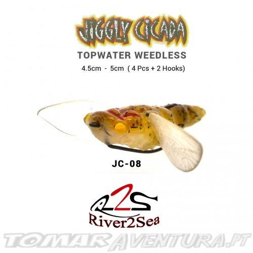 River2sea Jiggly Cicada Topwater Weedless