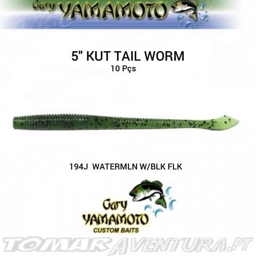 """Gary Yamamoto 5"""" Kut Tail Worm"""