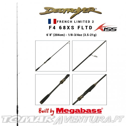 Megabass Destryer F4 68XS French Limited 2