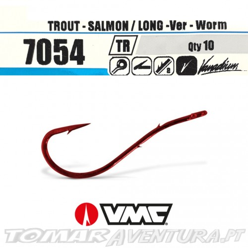 VMC 7054 Long Worm Hook Ringed
